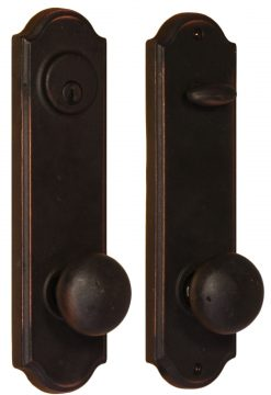 Weslock - Molten Bronze - Tramore Entry handle