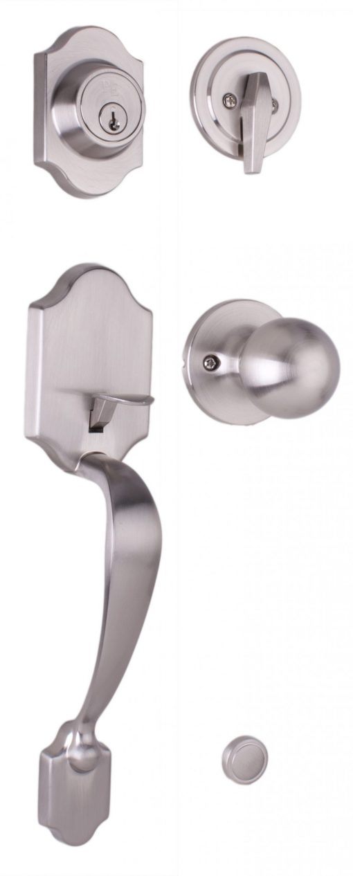Parkside Entry Handle - Satin Nickel