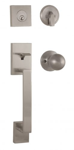 Bailey Entry Handle - Exterior with interior knob